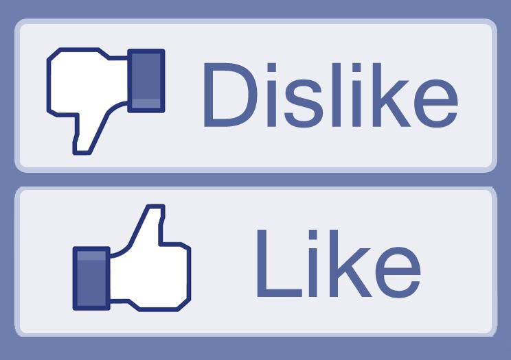 Facebook штампы. Печати Like & Dislike